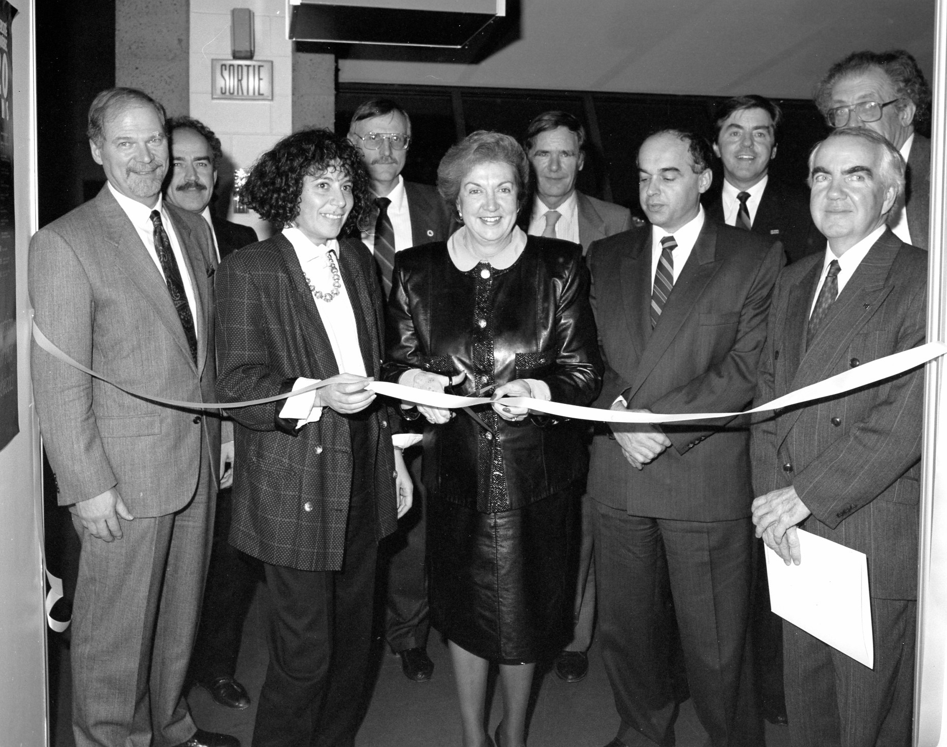 Inauguration du centre géoscientifique 6 nov 1989
