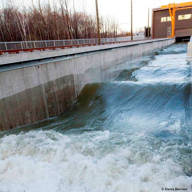 Canal hydraulique INRS